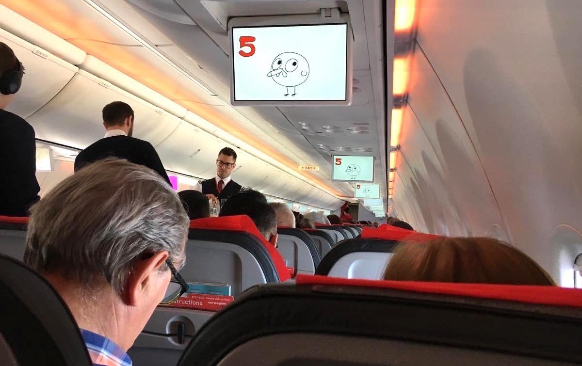 機内の様子