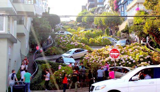 世界一曲がりくねった坂道!サンフランシスコの観光地「ロンバード・ストリート」に行ってきた