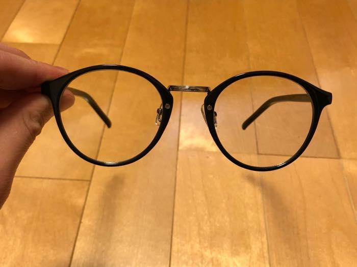 メガネの現物